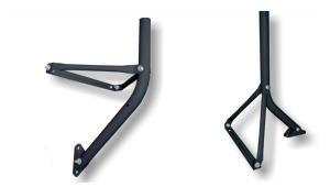 Wandhalter / Standfuß Stahl I-F1 T90 -antrazit-