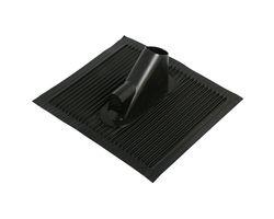 Alu- Dachziegel mit Kabelführung -schwarz-