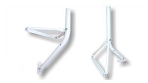 Wandhalter / Standfuß Stahl I-F1 T90 -lichtgrau-