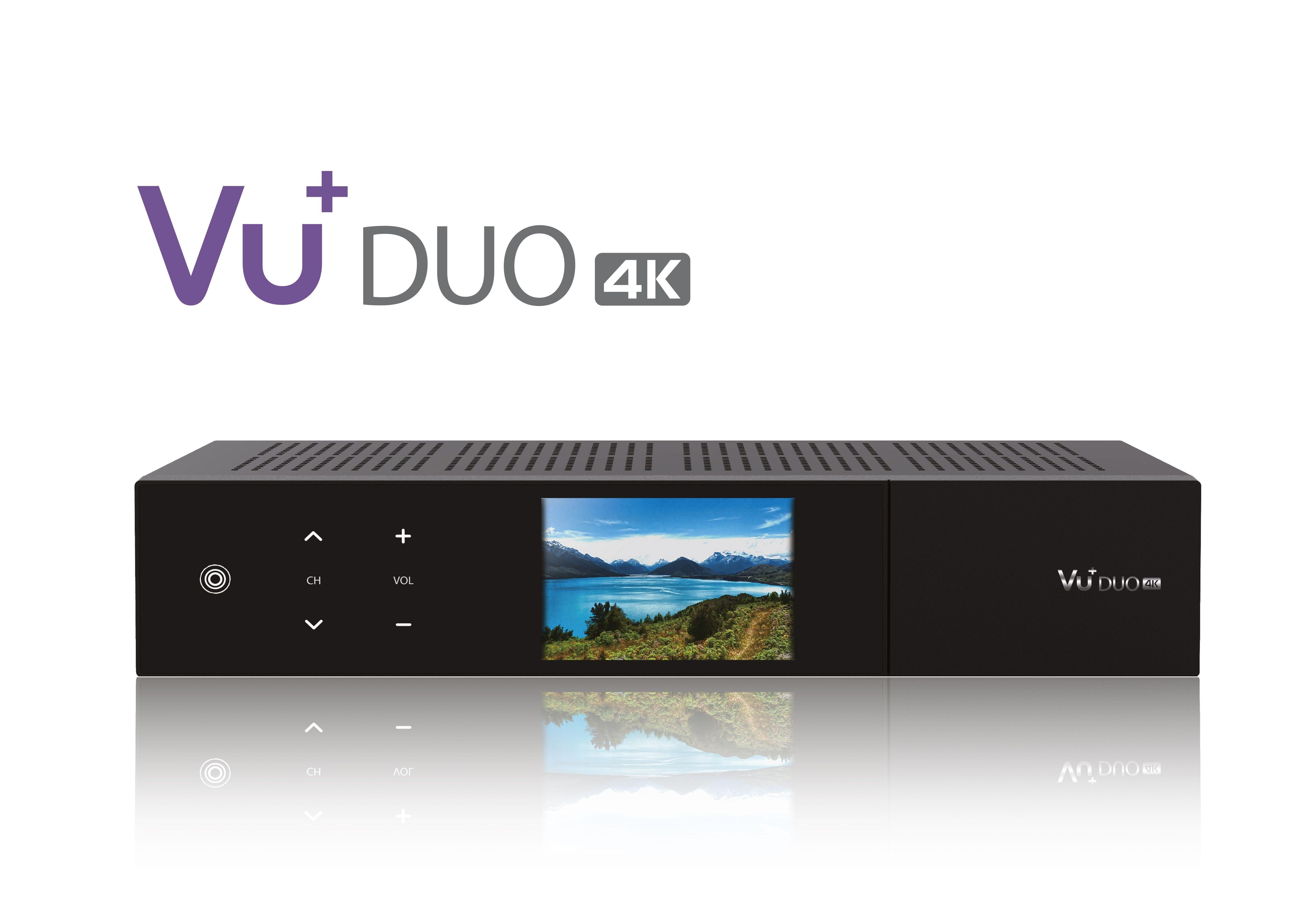 VU+ Duo 4K 1x DVB-S2X FBC Twin Tuner PVR ready Linux Receiver UHD 2160p
