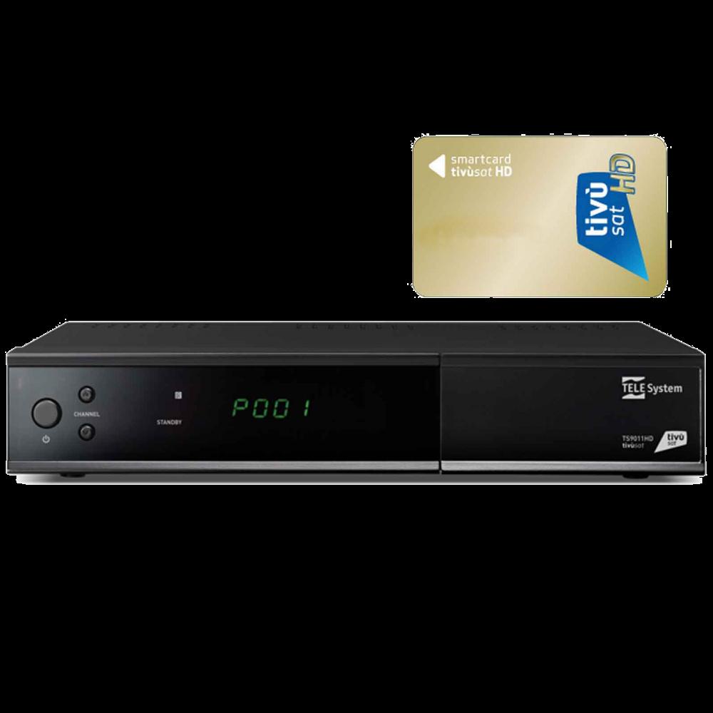 Telesystem TS9011 HD Tivu Sat HDTV Receiver + Tivusat Karte