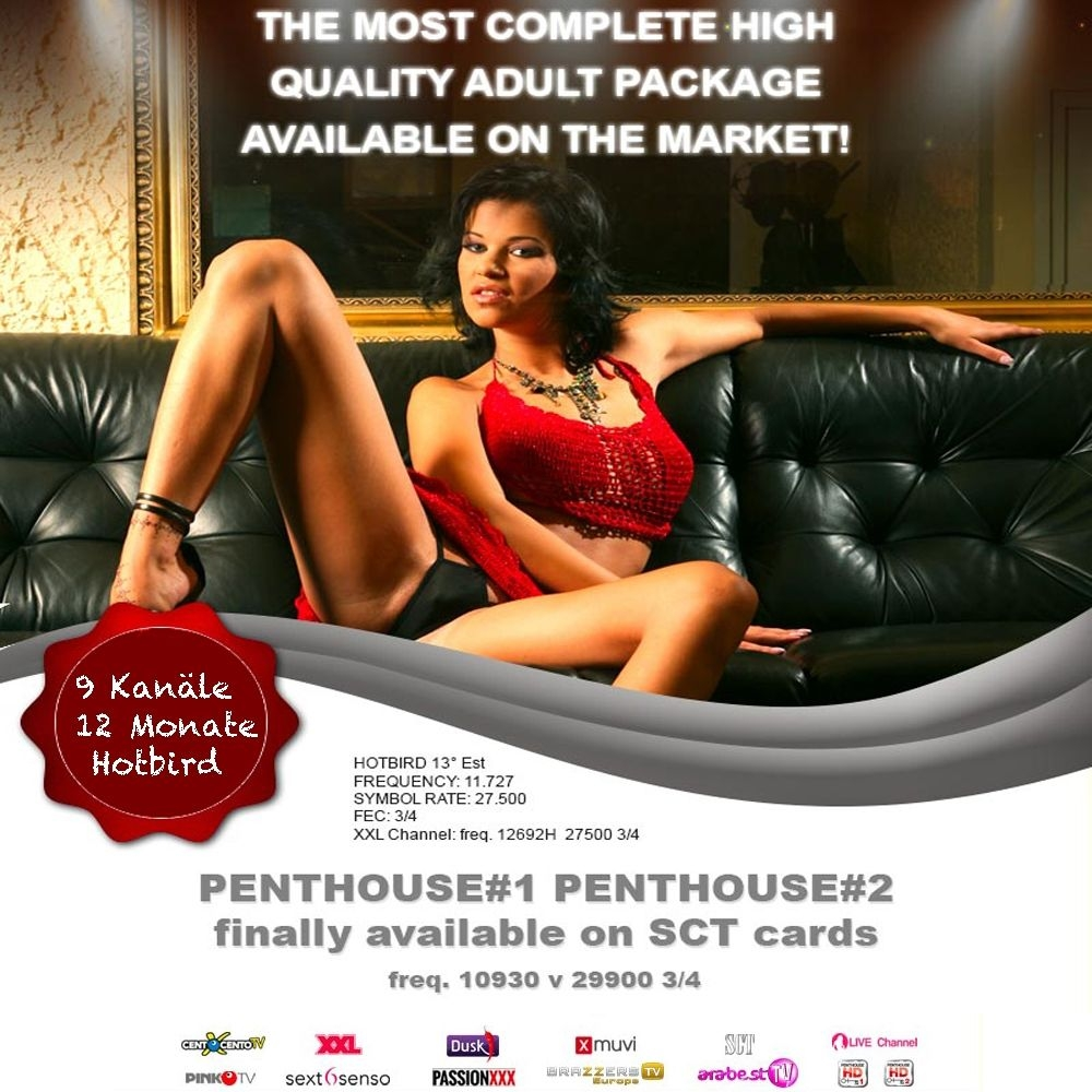 SCT Satisfaction Penthouse Karte TV Karte Viaccess 9 Sender