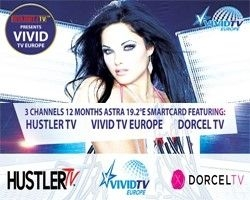 Hustler TV, Dorcel TV und Vivid TV Europe ASTRA 19,2° Viaccess Karte