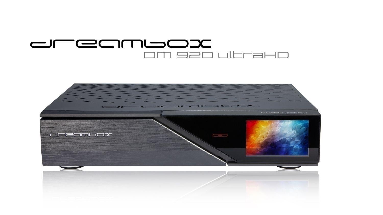 Dreambox DM920 UHD 4K 1x DVB-S2X FBC Multistream / 1x DVB-C/T2 Dual Tuner E2 Linux PVR Receiver