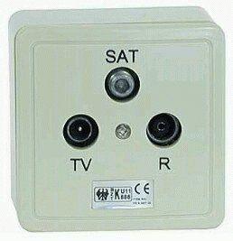 MultiLine Antennensteckdose, Durchgang 4110 SW
