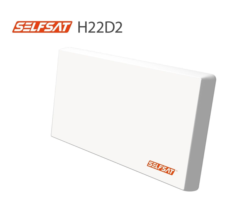 Selfsat H22D2 Flachantenne mit austauschbaren Twin LNB