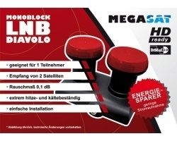 Megasat Diavolo Monoblock Single LNB 0.1 dB, 40 mm