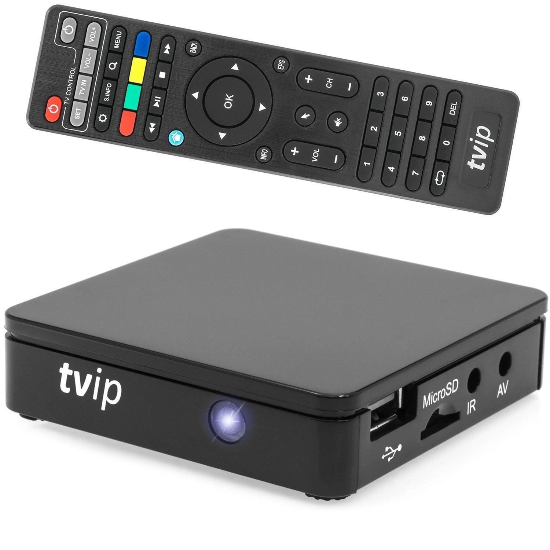 TVIP S-Box v.412 IPTV HD Multimedia Box Android WLAN schwarz