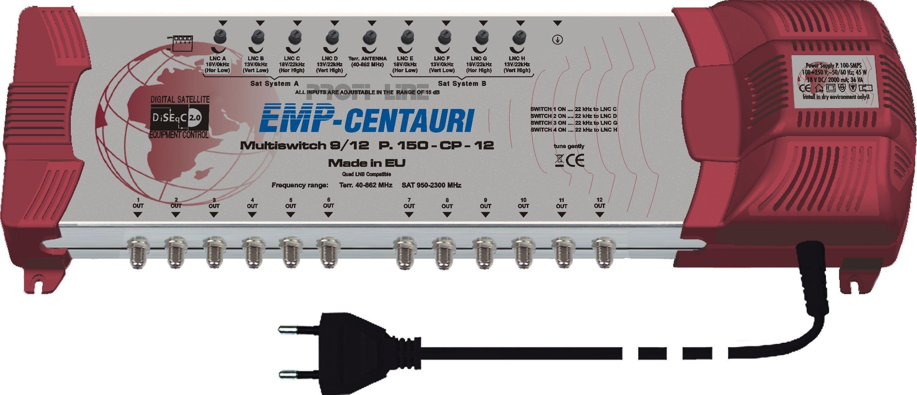 EMP ProfiLine Multischalter MS 9/12 PIU-5 V10 mit Netzteil