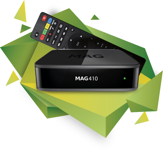 MAG 410 Android IPTV Set Top Box Internet TV