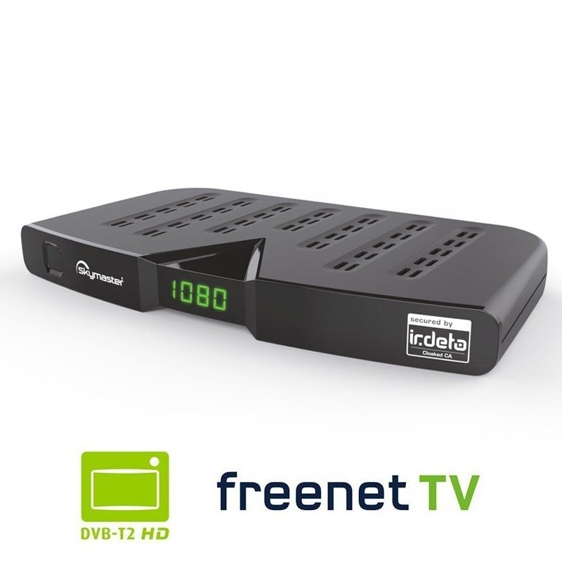Skymaster DTR 5000 FullHD HEVC DVBT/T2 Receiver H.265, HDTV, HDMI, Irdeto Zugangssystem, freenet TV