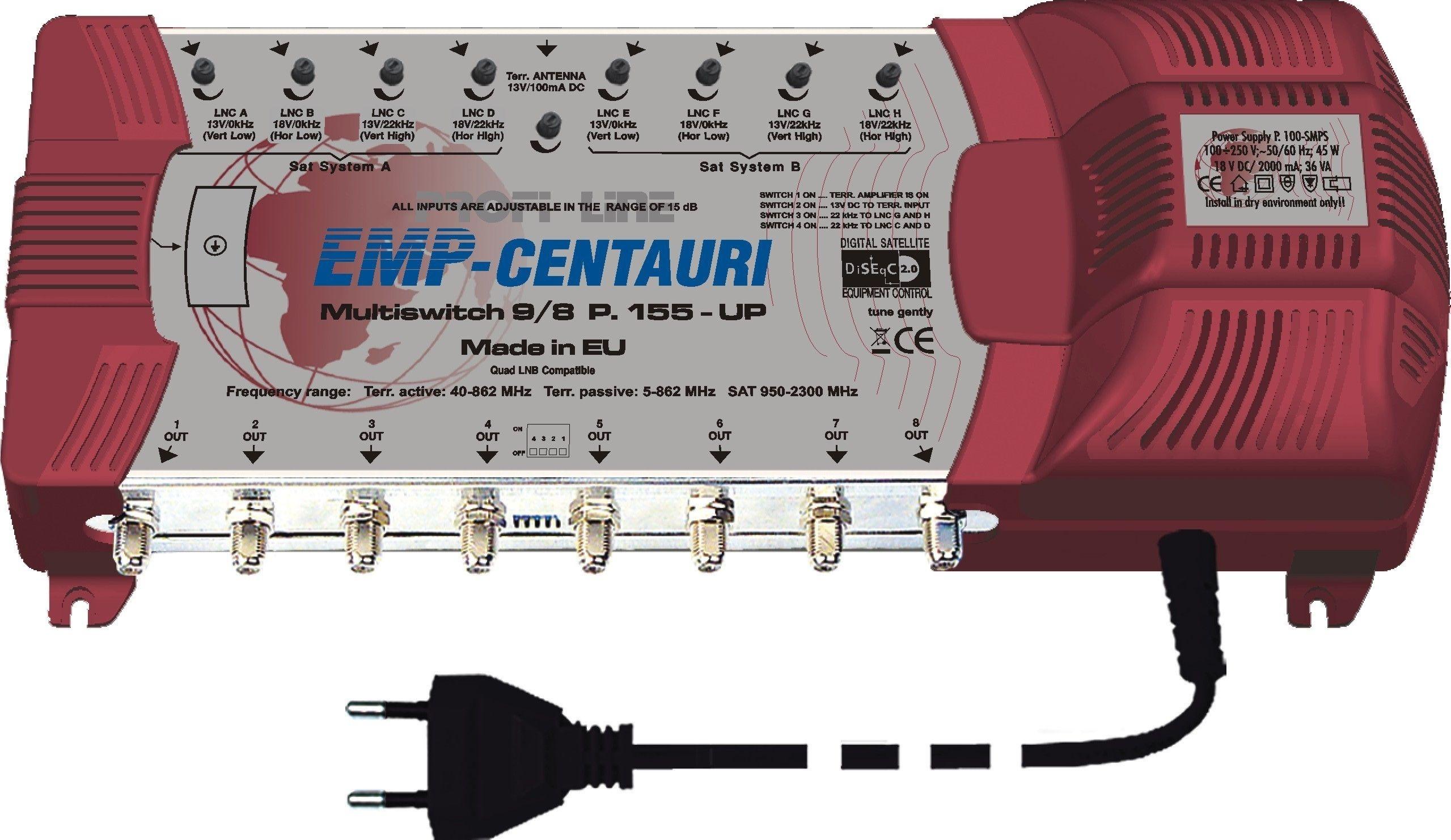 EMP ProfiLine Multischalter MS 9/8 PUI-5 V10 mit Netzteil