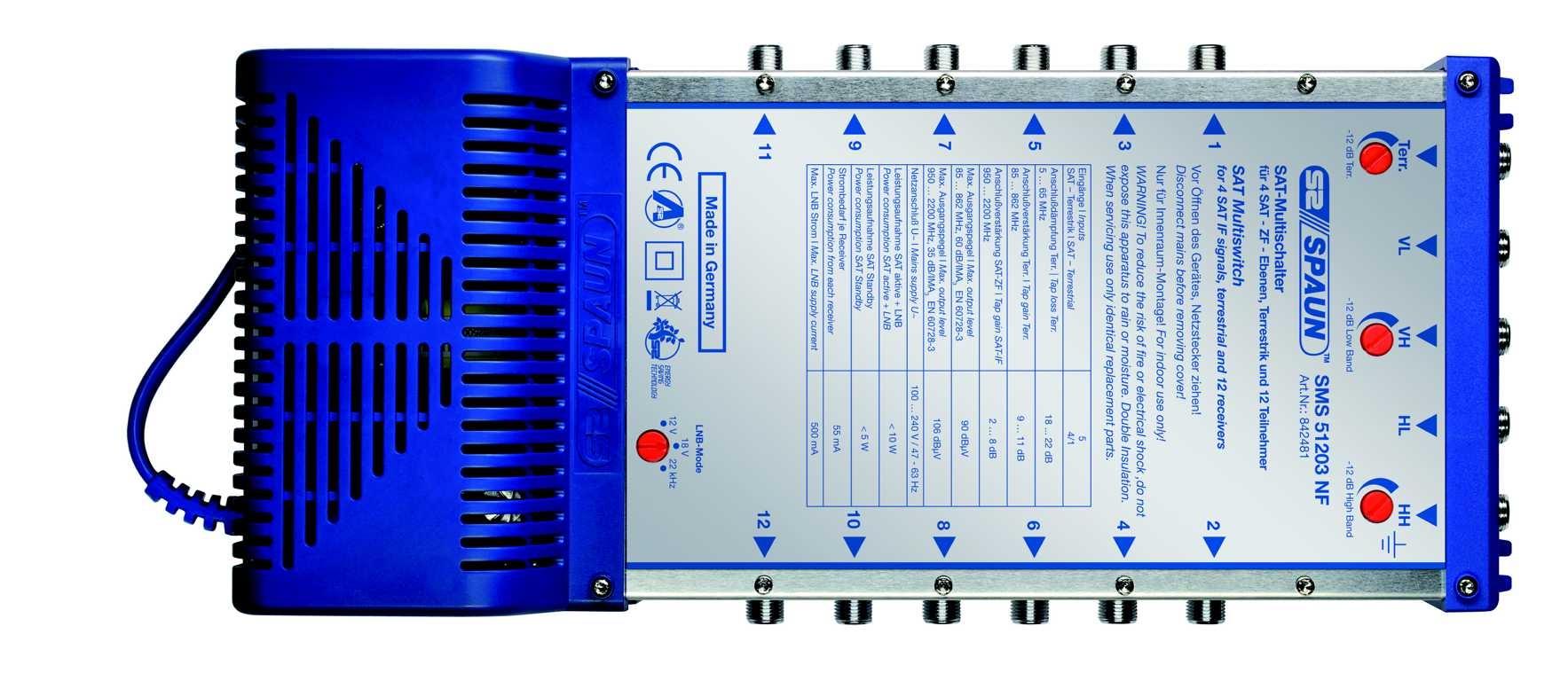 Spaun SMS 51203 NF - Multischalter 5 / 12