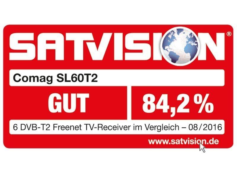 COMAG SL60T2 FullHD HEVC DVBT/T2 Receiver H.265, HDTV, HDMI, Irdeto Zugangssystem, freenet TV