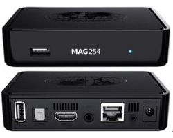 MAG 254 IPTV SET TOP BOX Multimedia player Internet TV IP Konsole USB HDTV 1080p