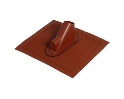 Alu- Dachziegel mit Kabelführung -Ziegelrot-