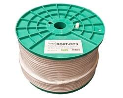 Venton Koaxial Sat Kabel RG6T-CCS 100dB 2-fach geschirmt High Quality 100m